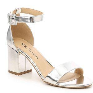 CL by Laundry Metallic Silver 'Jody' Sandal